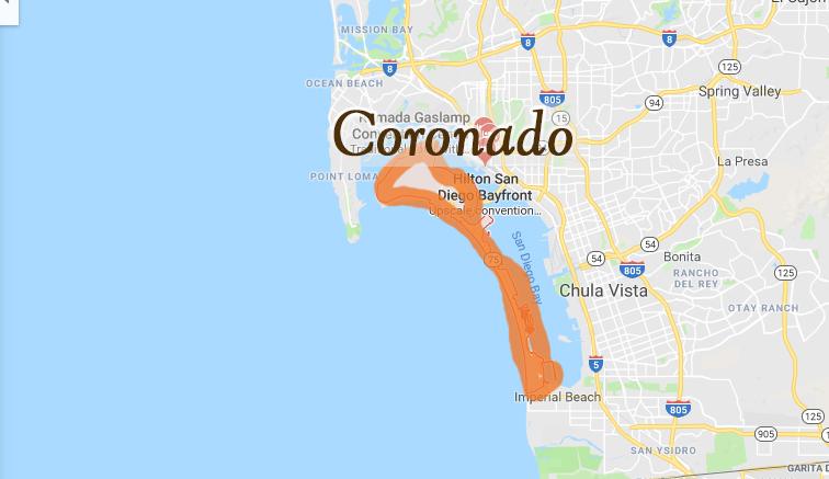 Map of Coronado