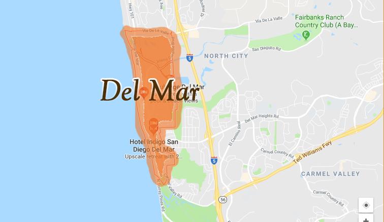 Map of Del Mar