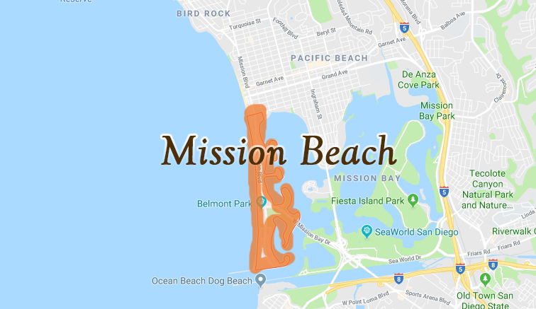 Map of Mission Beach