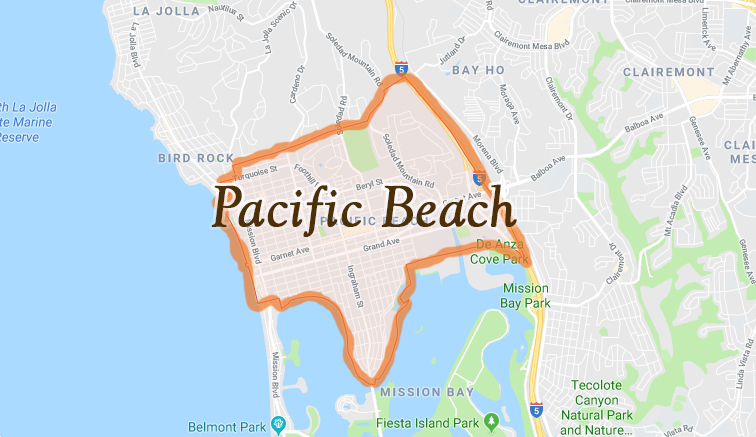 Map of Pacific Beach