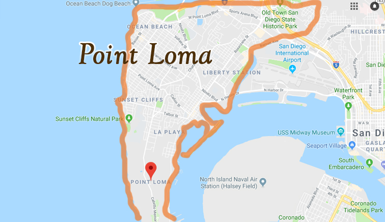 Map of Point Loma